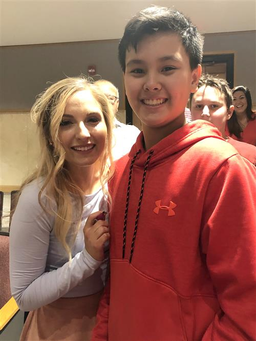 Jessie Chris and student Michael Bly