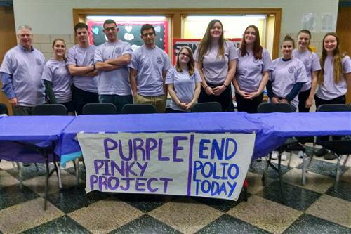 Purple Pinkie Day participants