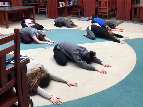Ken-West students practicing yoga