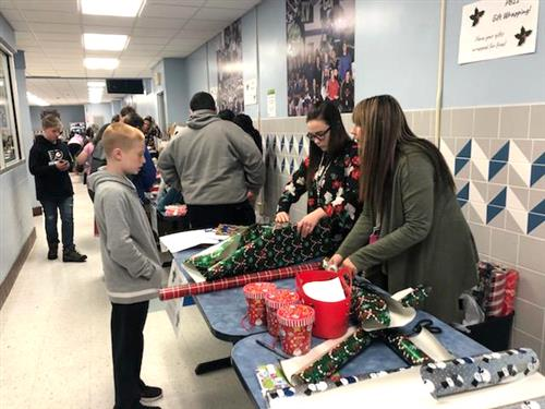 Kenmore West students browse gifts at Holiday Shop