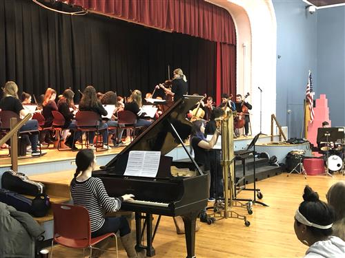 Kenmore East Orchestra students perform at Buffalo School #32
