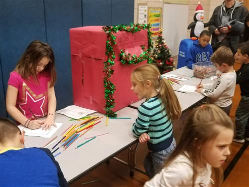 Students write letters to Santa
