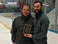 AD Receives James Rusin Award for Commitment to Girls Hockey