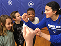 Kenmore West Varsity Basketball Players Inspire Future Blue Devils