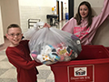 Franklin Middle Students Collect Socks for Ken-Ton Closet