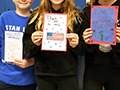 Franklin Middle Students Create Cards for Honors Flight Veterans