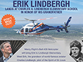 Charles Lindbergh's Grandson, Erik Lindbergh, To Visit Lindbergh Elementary on Saturday, Sept. 29