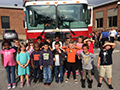 Fire Safety a Major Theme in Elementary Schools in October