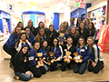 Kenmore West Cheerleaders Donate Build-a-Bear Teddy Bears to Patients at Children's Hospital