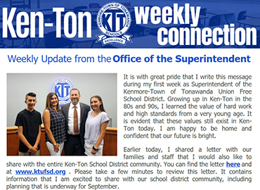 Ken-Ton Weekly Connection: Superintendent's Weekly Message & Video Update