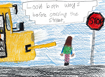 First-Ever Bus Safety Drawing Contest Winners
