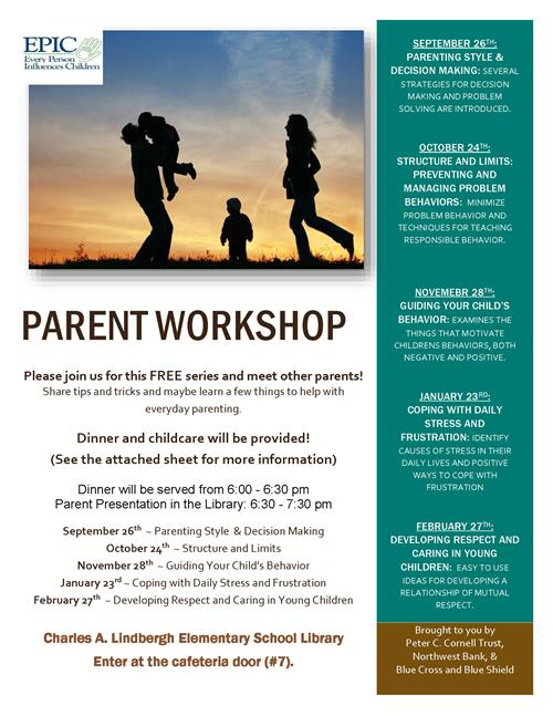 EPIC Parent Workshop flyer