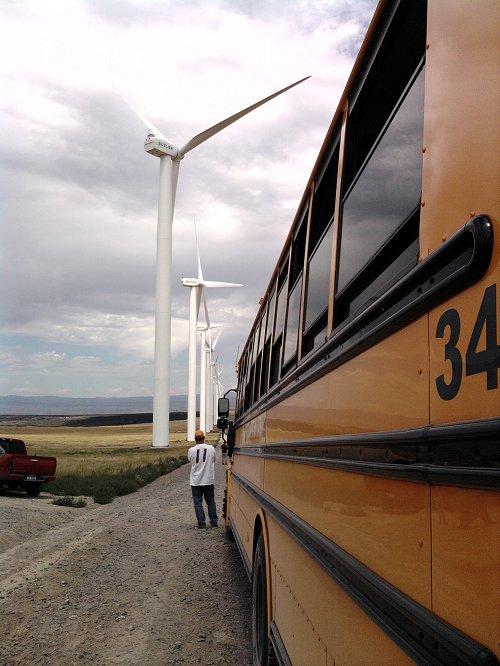 Wind farm in Idaho