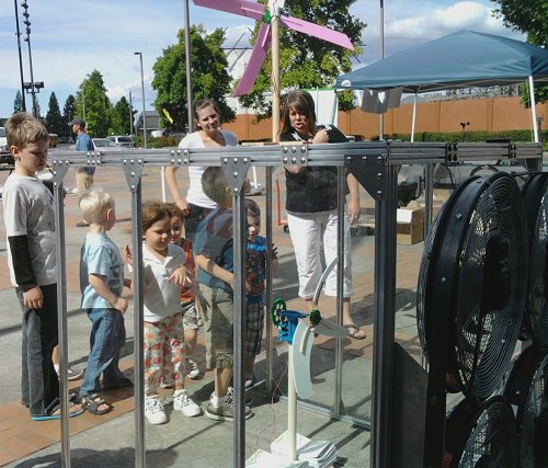 KidWind Tunnel in Portland Oregon - summer of 2010